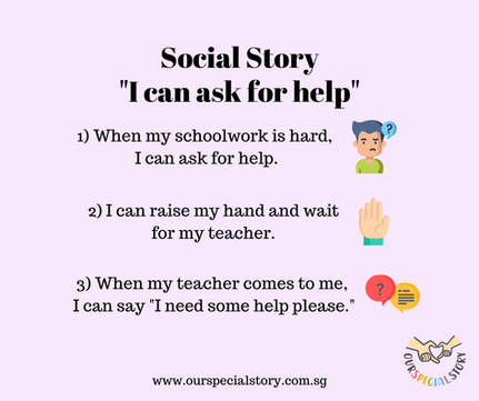 "Social Story ""I can ask for help"""