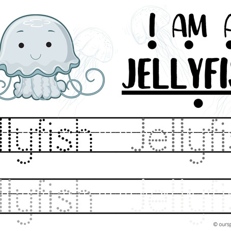 Sea Creatures Themed Writing Practice