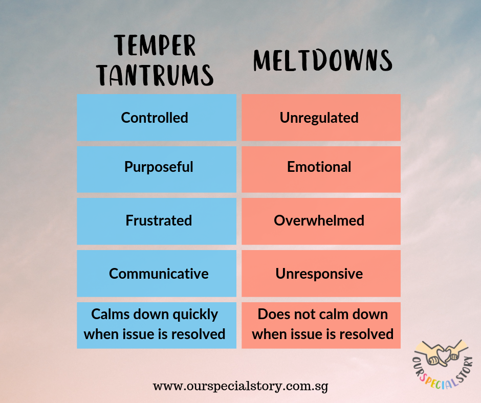 Managing Tantrums VS Meltdowns
