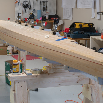 STRIPPING TO KEEL LINE ON ONE SIDE