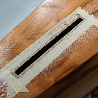 SKEG BOX TRIMMED FLUSH WITH HULL