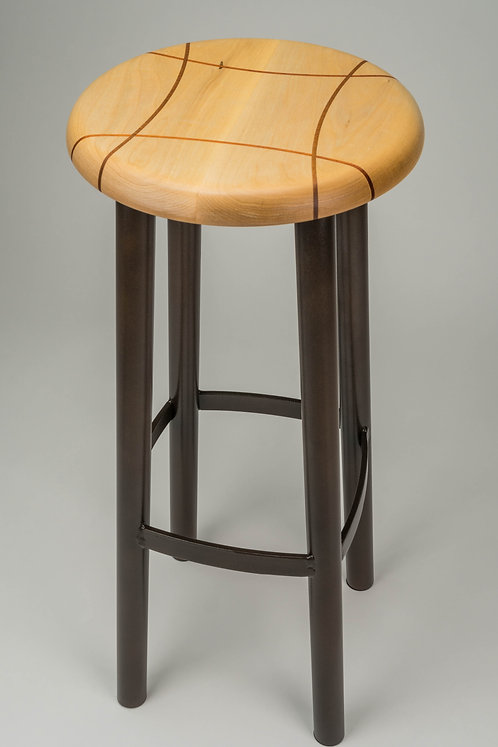 #202 Standard Stool Tall - Maple/Leatherwood