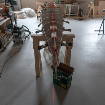 ALIGNING FORMS ON STRONGBACK USING LASER LEVEL