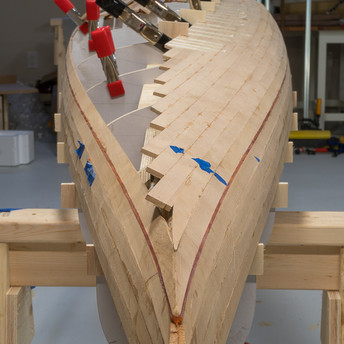 FITTING STRIPS UP TO KEEL LINE ON ONE SIDE