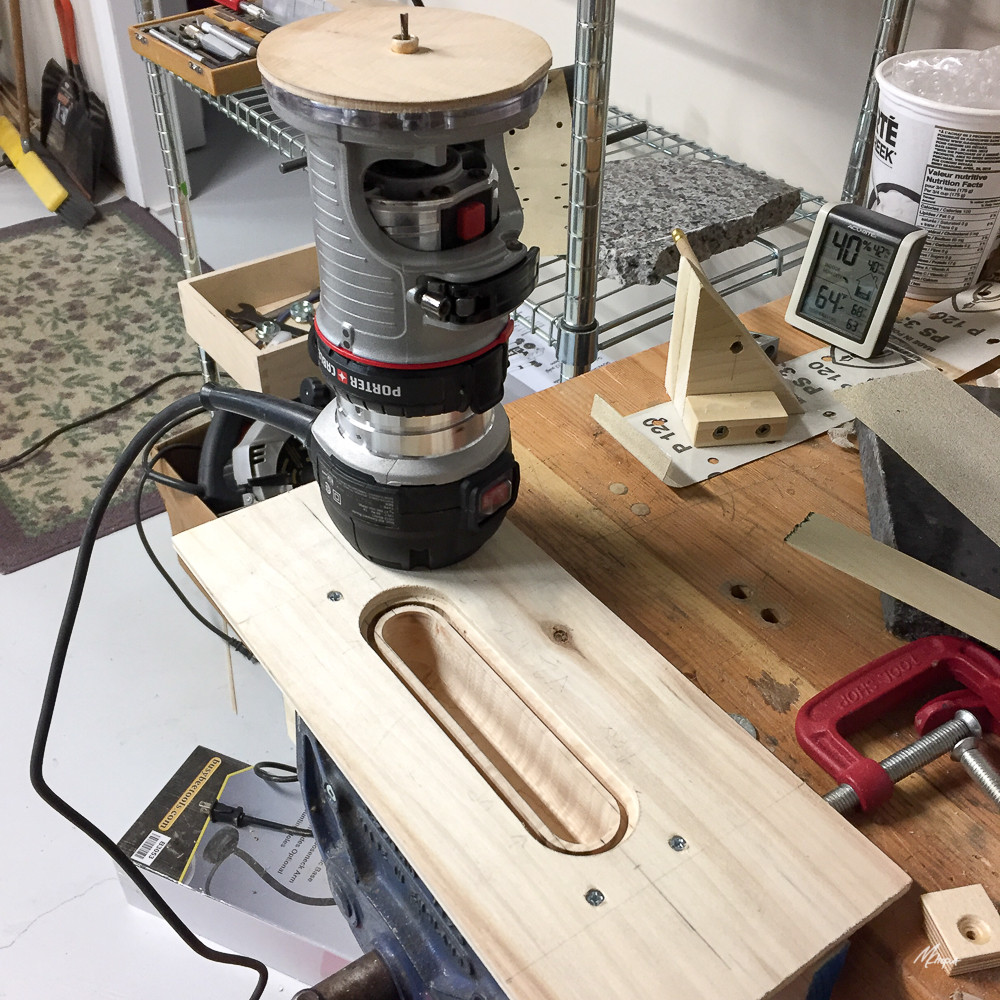 ROUTER JIG FOR SKEG CONTROL BOX