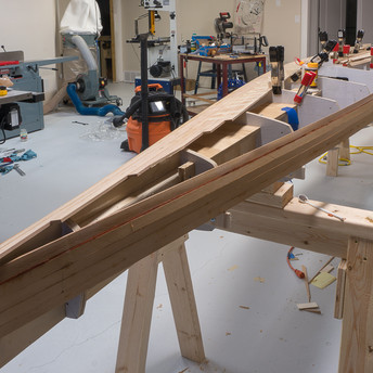 FITTING STRIPS UP TO KEEL LINE