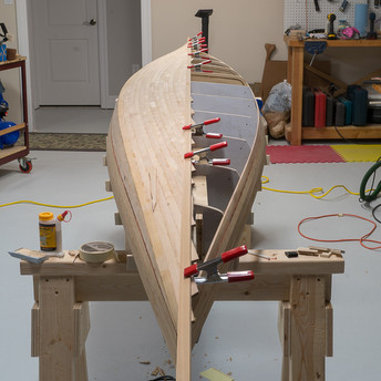 KEEL LINE MARKED FOR CUT
