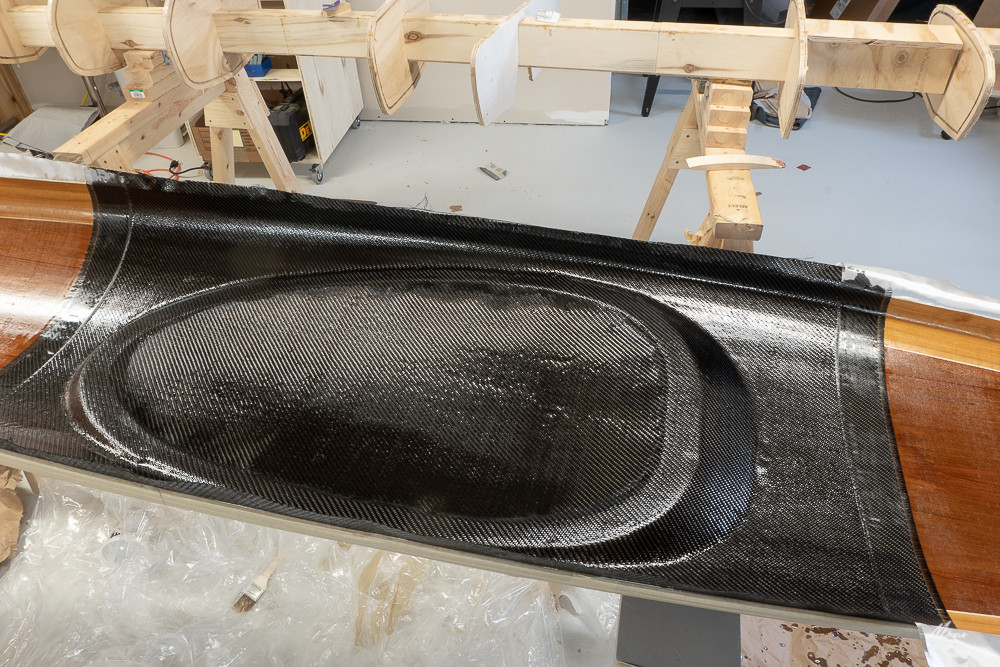 CARBON FIBER REINFORCEMENT OF BOTTOM OF COCKPIT AREA