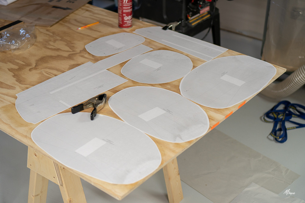 GLUING FORM PATTERNS TO PLYWOOD