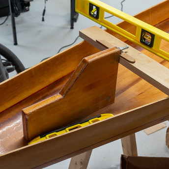 ALIGNING AND GLUING IN SKEG BOX