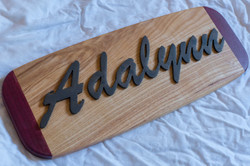 #133 Name Plate with Wood Base