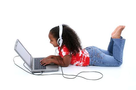 maker club coding girl lying down.jpg