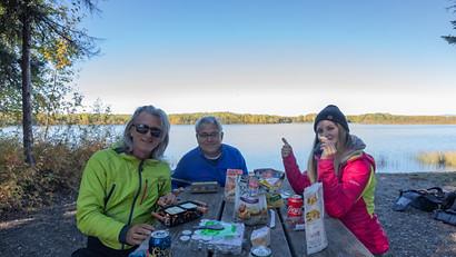 Raclette essen am Chena Lake, Fairbanks