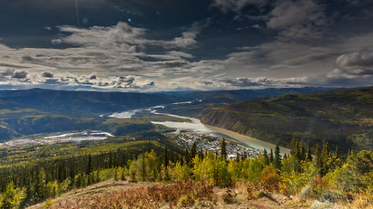 Dawson City, vom Dome fotografiert