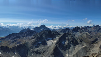 Panorama der Oberengadiner Bergwelt