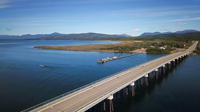 Marsh Lake, von hier geht der Yukon River auf seine Reise