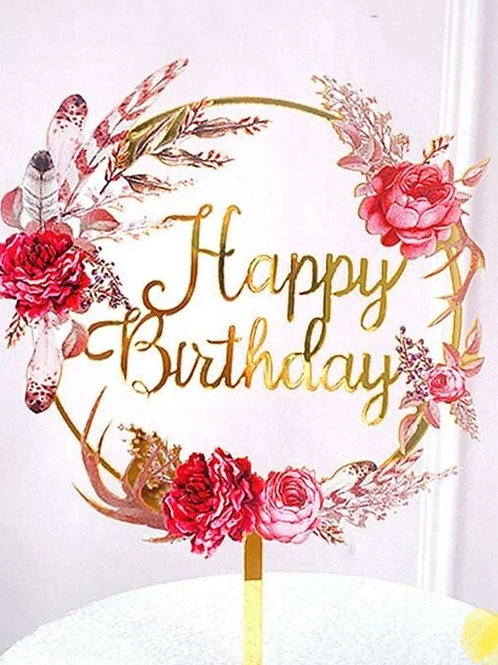 Acrylic Happy Birthday Topper