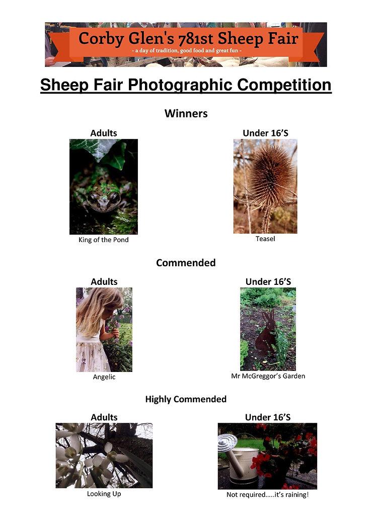 Corby Glen Sheep Fair Photographic Compe