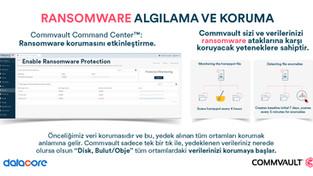 Ransomware ataklarına karşı Commvault her ortama yönelik ayrı koruma özellikleri sağlar. Commvault 3
