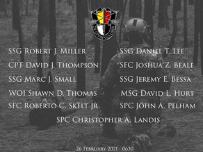 3rd Special Forces Group (Airborne) Remembrance PT Memorial Walk