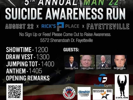 5th Annual Man 22 Suicide Awareness Run