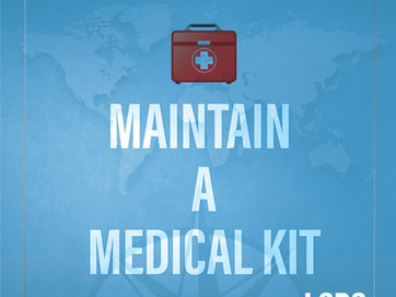 LSDS ROAD TRIP TRAVEL TIP - MAINTAIN A MEDICAL KIT