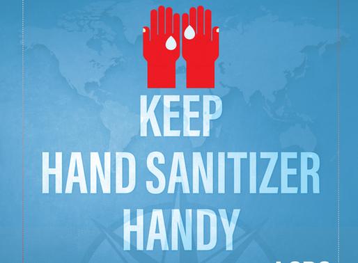 TRAVEL TIPS- Keep Hand Sanitizer Handy