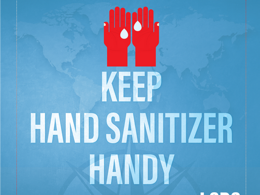 TRAVEL TIPS- Keep Hand Sanitizer Handy