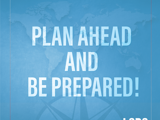 Travel Tip - Plan Ahead & Be Prepared