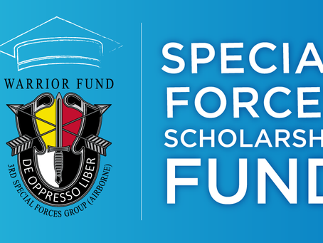 The 2021 Special Forces Scholarship Fund Application is Now Open!