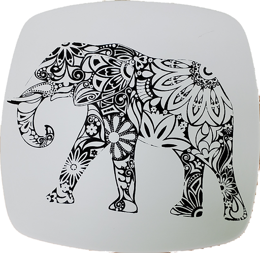 Coloring Book Elephant Plate
