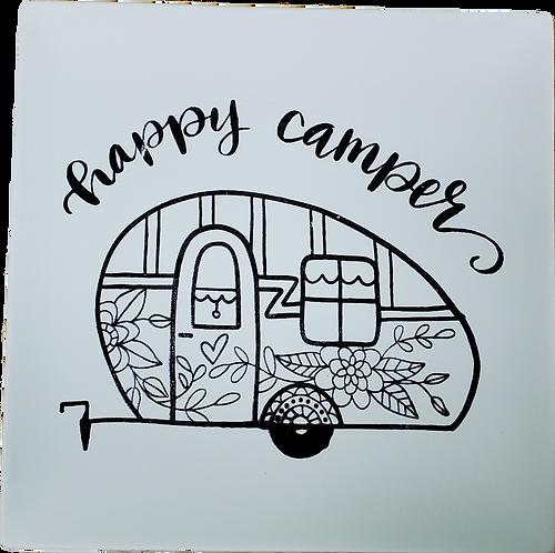 Coloring Book Camper Plate