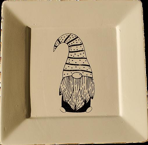 Gnome Angled Square Plate