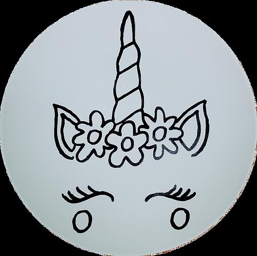 Coloring Book Unicorn Plate