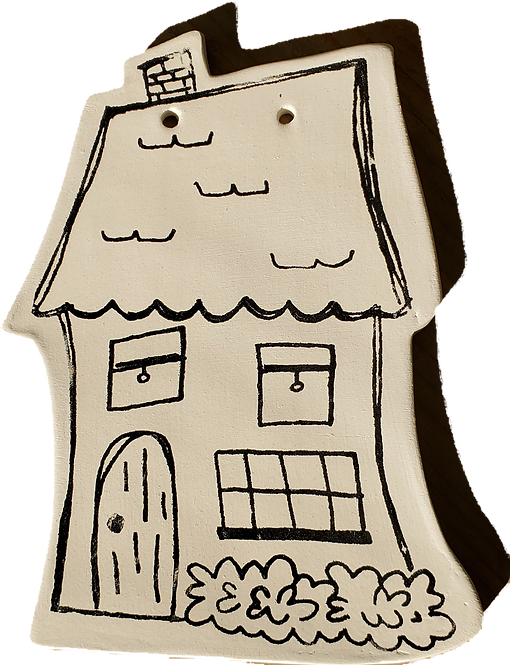 Coloring Book Plaque-House