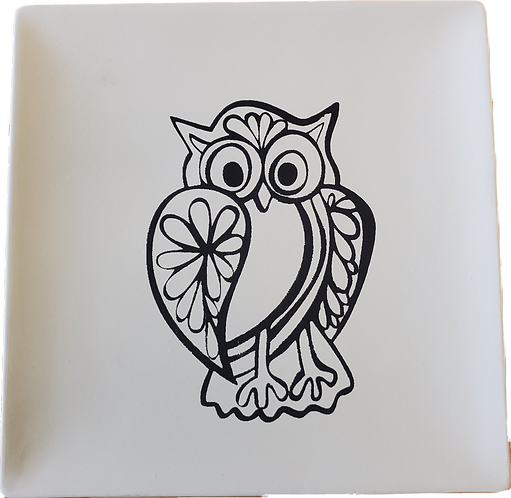Square Owl Plate