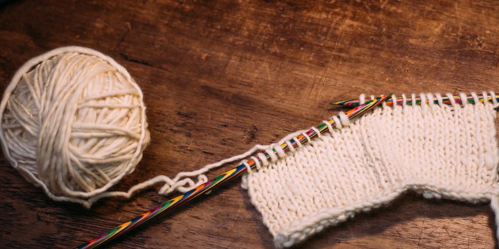 Roda de conversa sobre tricô com prática - iniciantes