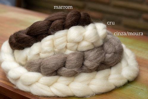 Lã Corriedale Penteada para Fiação ou Feltragem