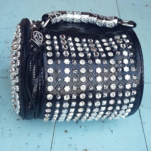 BLACK BARREL BAG