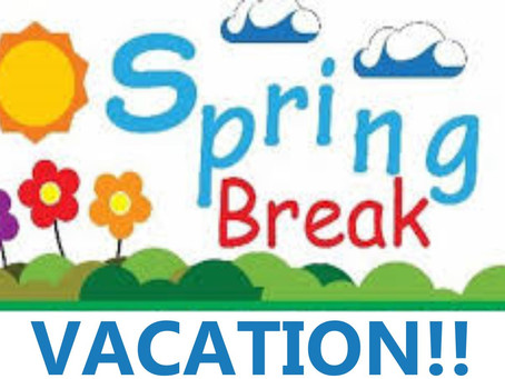 Time For Spring Break Vacation Fun!!!