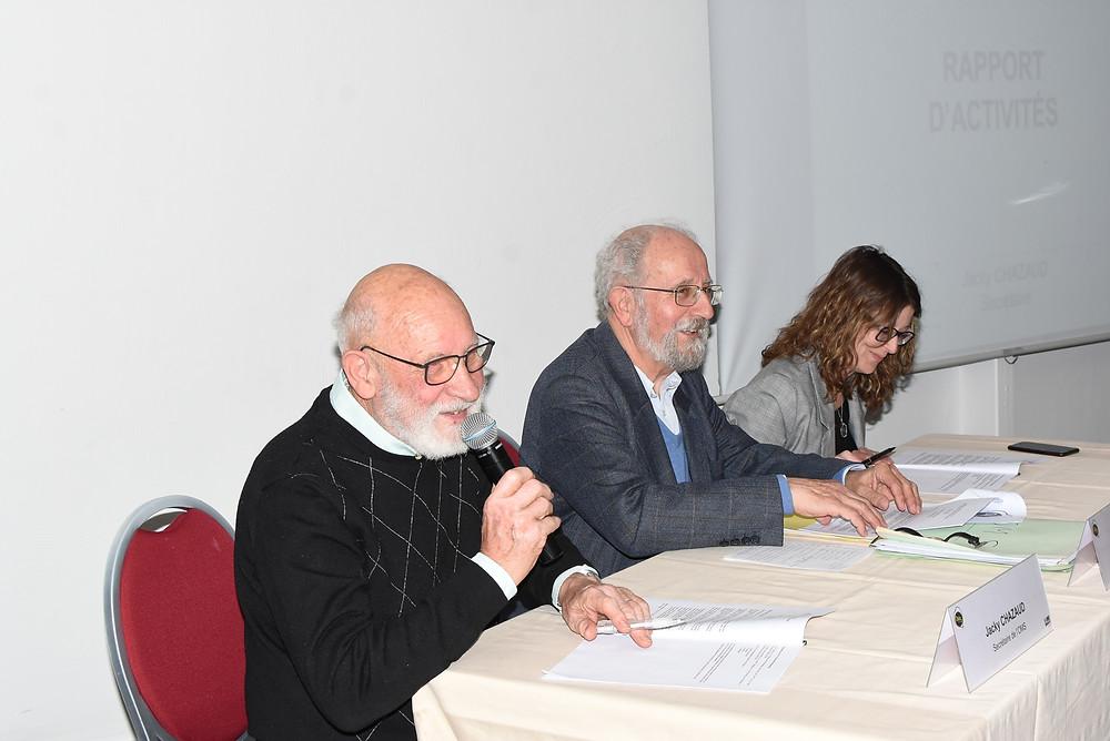 J.Chazaud (secrétaire) / M. Vaudel (président) / D. Guerineau (conseillère municipale)