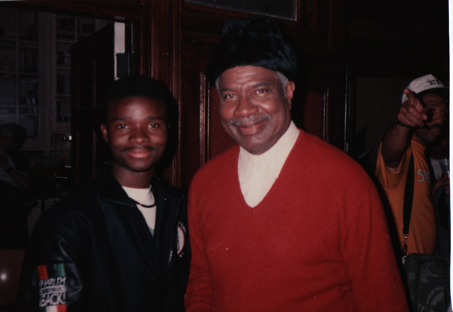With Screen Legend Ossie davis