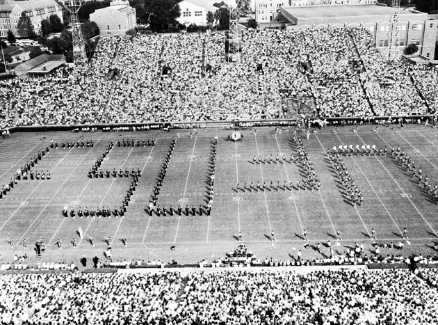 1961  UF & FSU Bands.jpg