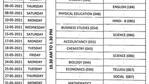 CBSE CLASS 12 EXAMINATIONS 2021 REVISED TIME TABLE