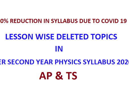 Deleted topics in Physics Class 12