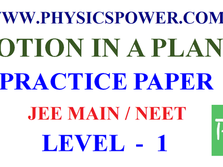 JEE Main NEET physics practice paper Motion in a Plane Level 1