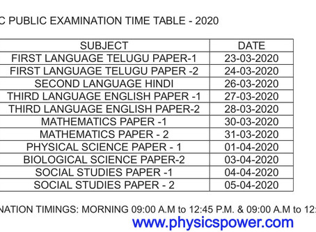 ap 10th exam time table 2020