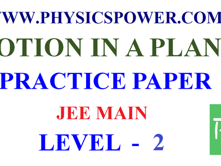 JEE Main physics practice paper Motion in a Plane Level 2