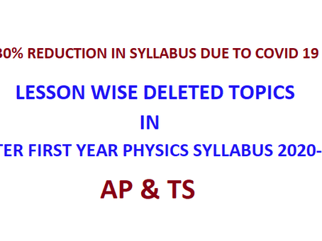 Deleted topics in physics class 11