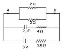 ELECTRIC CIRCUIT WITH RESISTORS AND CAPACITOR